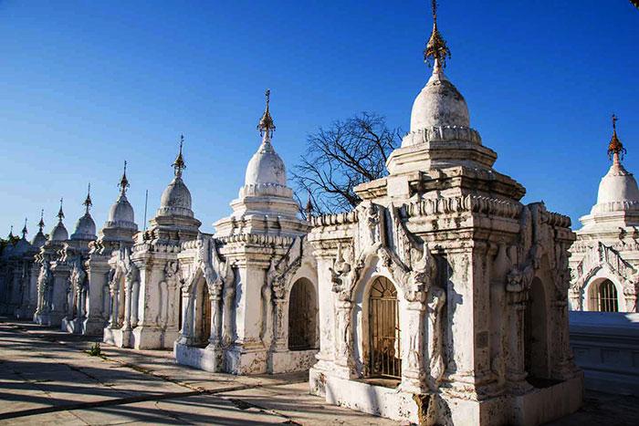 La pagoda Kuthodaw Paya en Mandalay Myanmar
