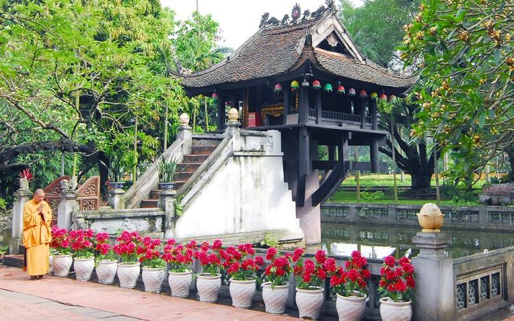 Pagoda del pila unico simbolo de Hanoi