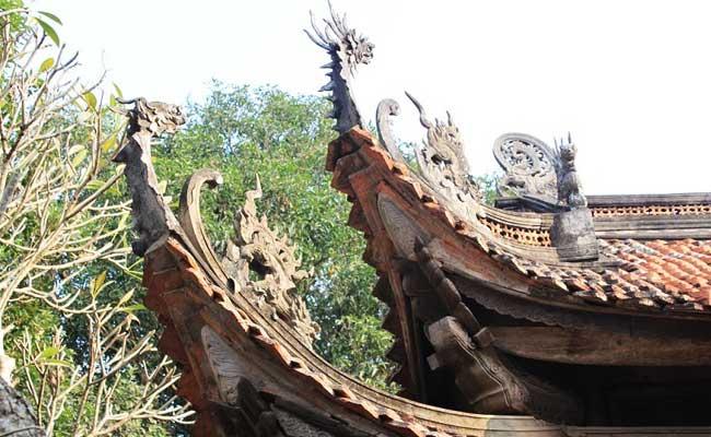 Esculturas en la pagoda de tay phuong hanoi