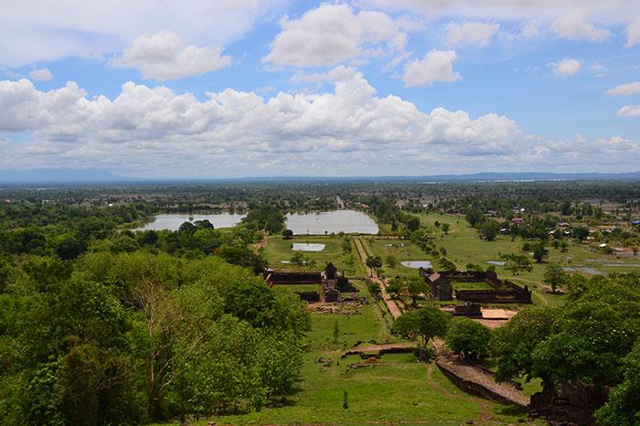 Paisaje del sitio arqueologico de Vat Phou Laos