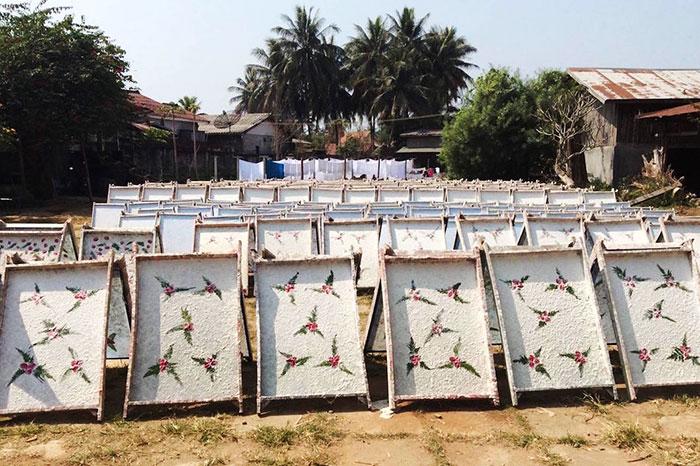 El papel saa en la artesania de laos