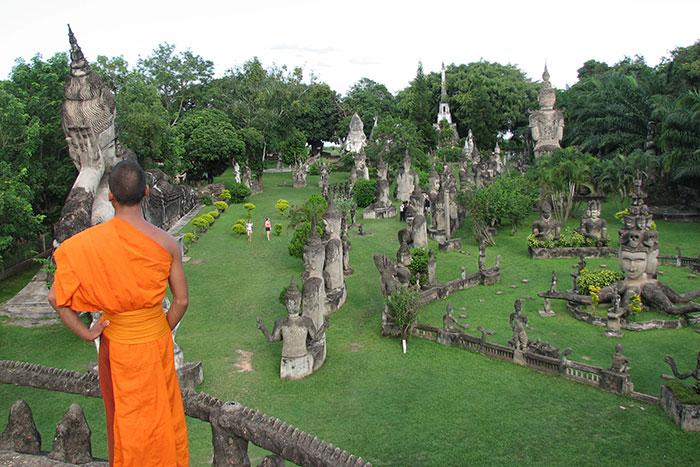 Parque de Buda en Vientiane Laos