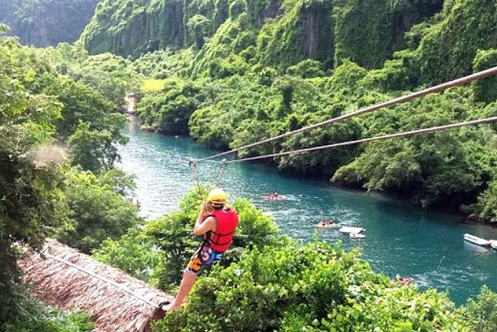 Tirolina en el Parque Nacional Phong Nha Ke Bang