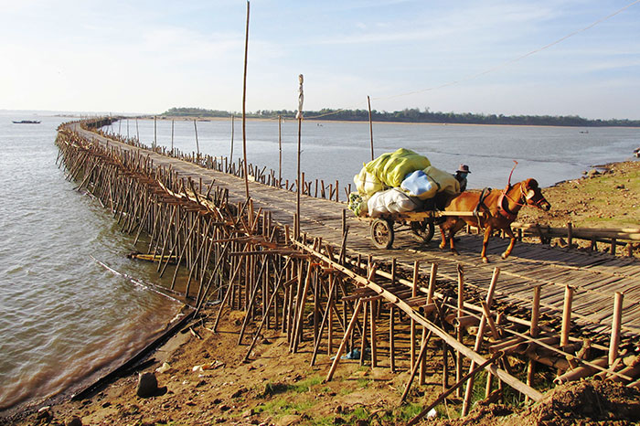 Paseo en Kompong Cham en Camboya