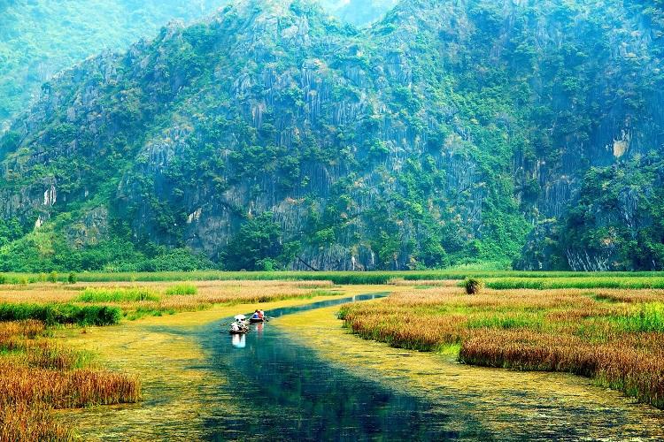 Paseo en bote en la Reserva Natural de Van Long