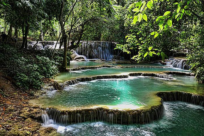 Cataratas de Kuang Si en Laos