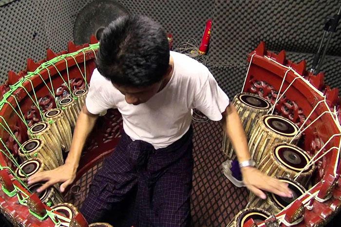 Hsaing waing conjunto de percusion birmano
