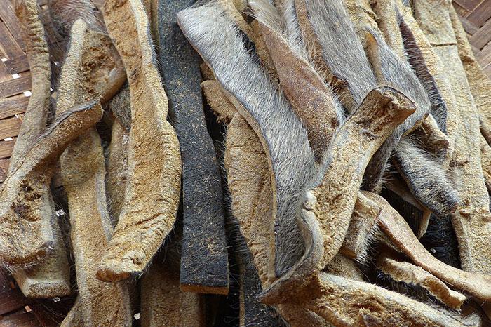 Piel de bufalo plato atipico en Laos