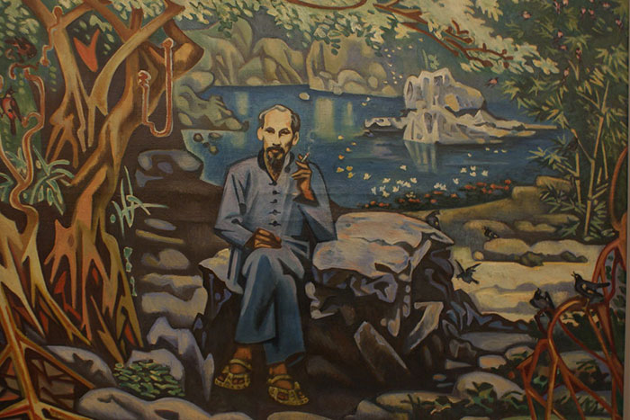 Pintura en oleo en el museo de bellas artes de Hanoi