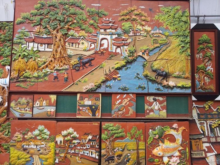 Pintura en el pueblo de ceramica Bat Trang