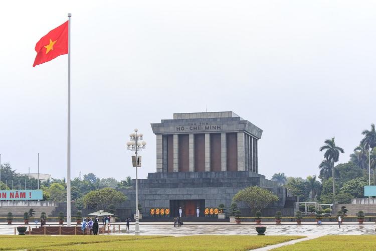 La celebre plaza Ba Dinh en Hanoi