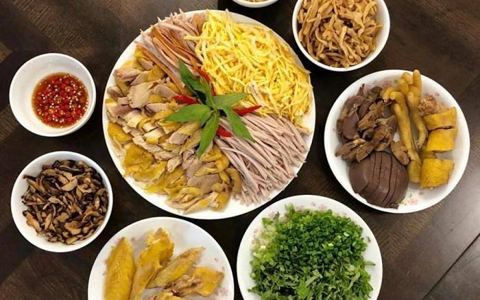 Preparacion del bun thang Hanoi