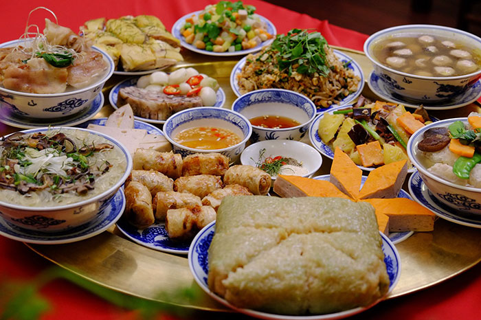 Buffet del ano nuevo vietnamita