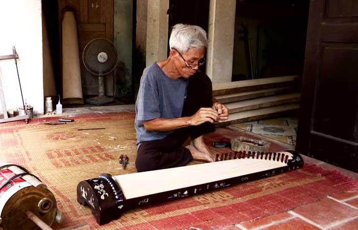 El pueblo de instrumentos musicales tradicionales Dao Xa