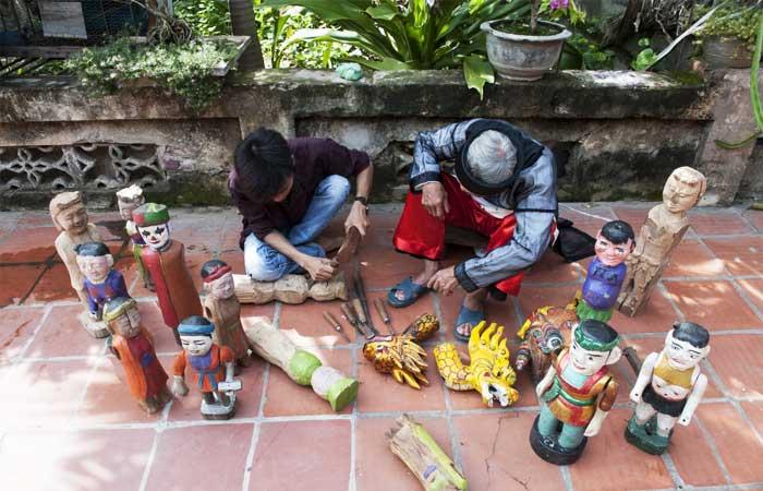 El pueblo de marionetas de agua Dao Thuc