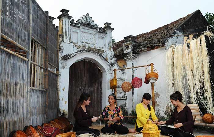 El pueblo de tejido ratan Phu Vinh