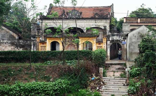 Casa tradicional del pueblo de Cu Da cerca de Hanoi