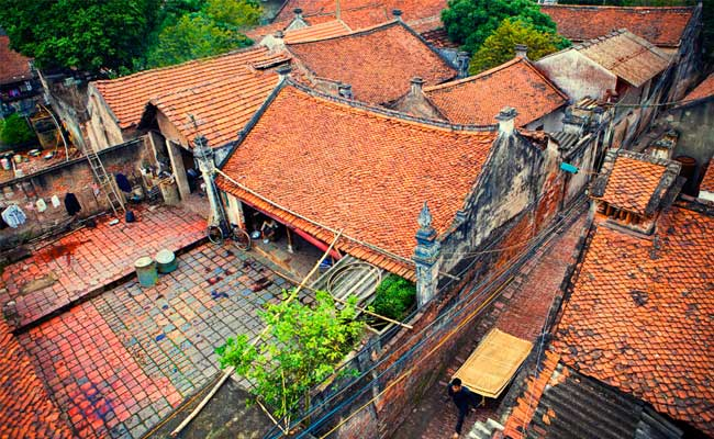 Pueblo de Cu Da cerca de Hanoi