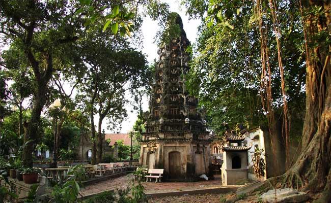 Pagoda mia pueblo de duong lam cerca de Hanoi