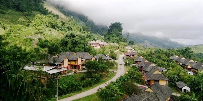 Pueblo etnico MOng en Son La Vietnam