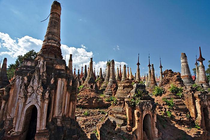 Pueblo In Dein en el lago Inle Myanmar