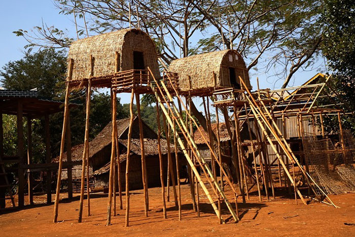 Pueblo Kroeung en Ratanakiri Camboya