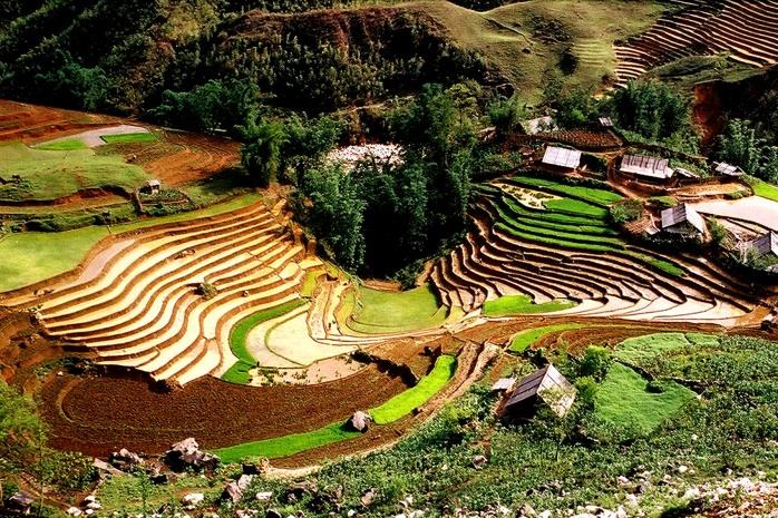 Terrazas en el pueblo de Lao Chai en Sapa