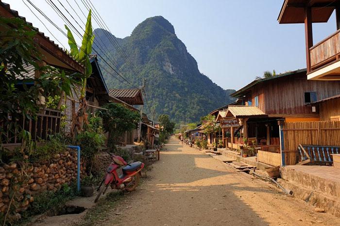 Pueblo de Muang Ngoi en Laos