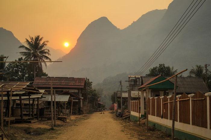 Pueblo de Muang Ngoi en Nong Khiaw