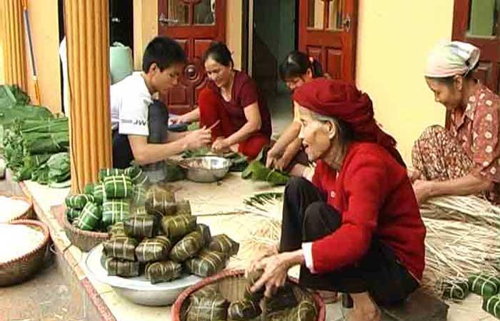 El pueblo de Banh Chung Tranh Khuc
