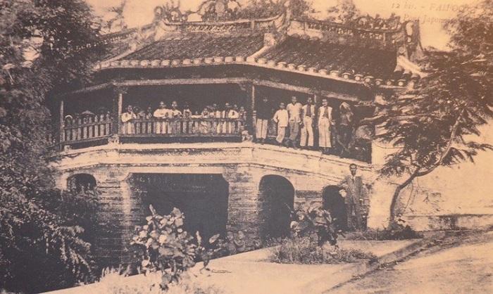 El puente japones en Hoi An de antano