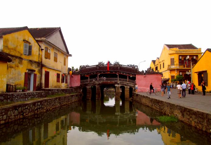 El puente japones en Hoi An patrimonio