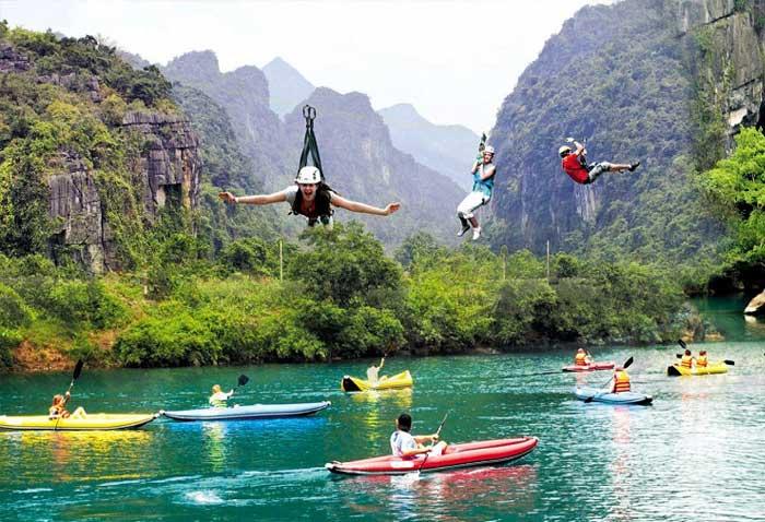 Zipline en el Parque Nacional Phong Nha Ke Bang