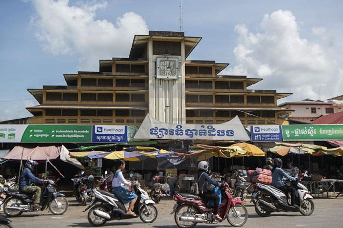 Mercado de Psar Nat en Battambang