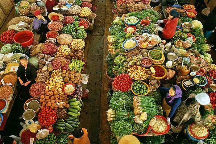 Mercado central en Dalat Vietnam
