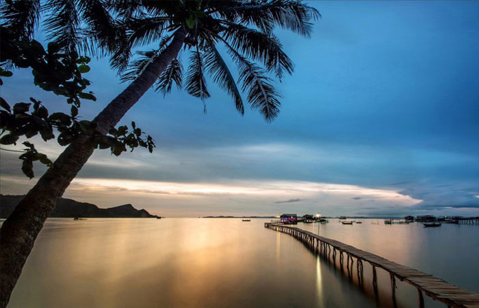 Pueblo de pescadores en Phu Quoc Vietnam