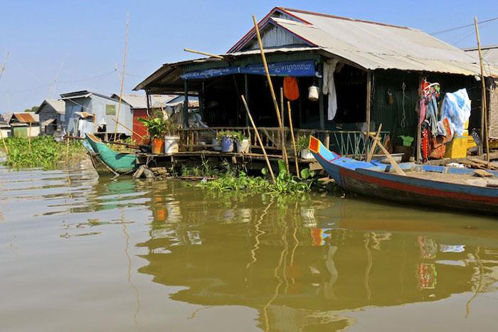 Casa flotante en Kampong Chhnang