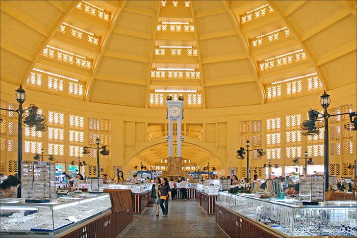 Mercado Phsar Kandal en Nom Pen