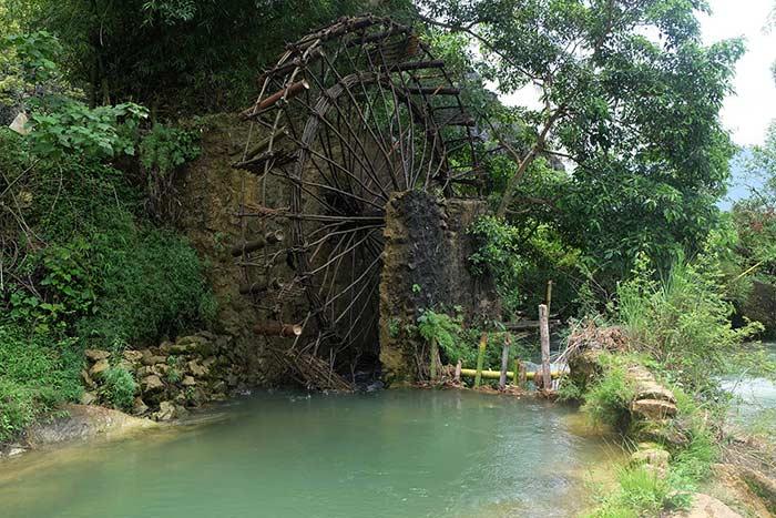 Rueda de agua en Cao Bang