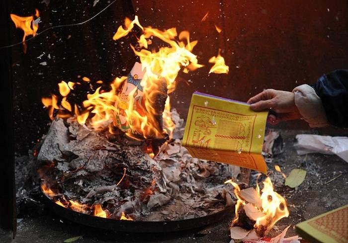 Ram thang bay en Vietnam quemado