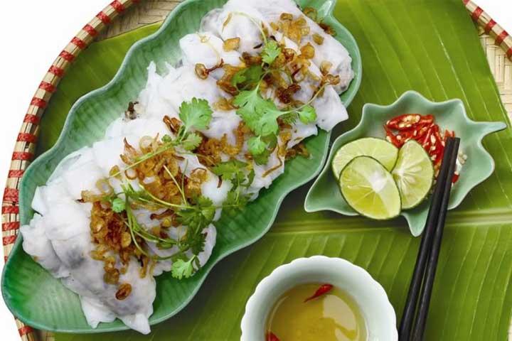 Los raviolis banh cuon hanoi