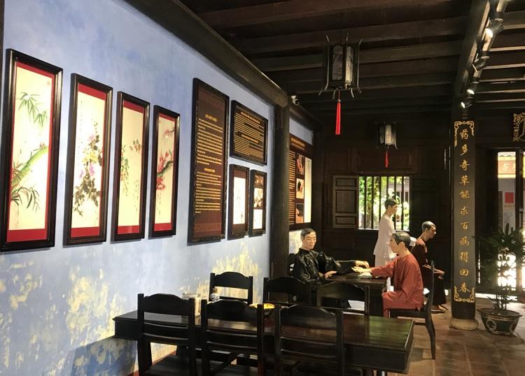 Recepcion del museo de medicina tradicional en Hoi An