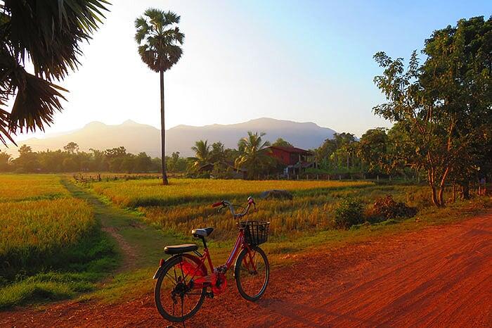 recorrido en bicicleta en champassak laos