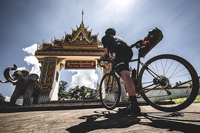 recorrido en bicicleta en luang prabang laos