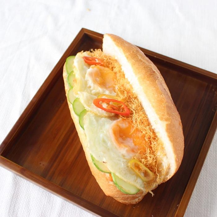 Recuerdos en la cocina vietnamita pan con pate