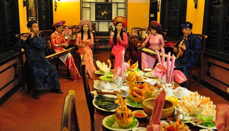Representacion de la comida real de Hue