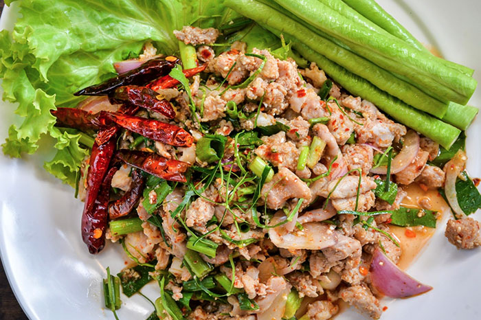 Comida tradicional de Muang Ngoi en Laos