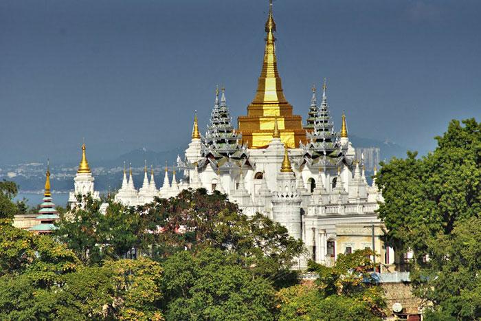 Ciudad de Sagaing Mandalay Myanmar