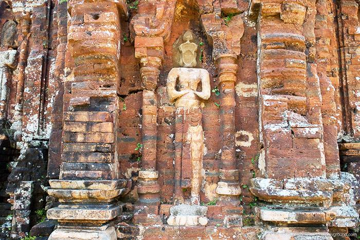 Estatua en el templo de My Son Vietnam