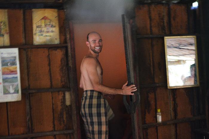 Sauna en Houay Say Laos